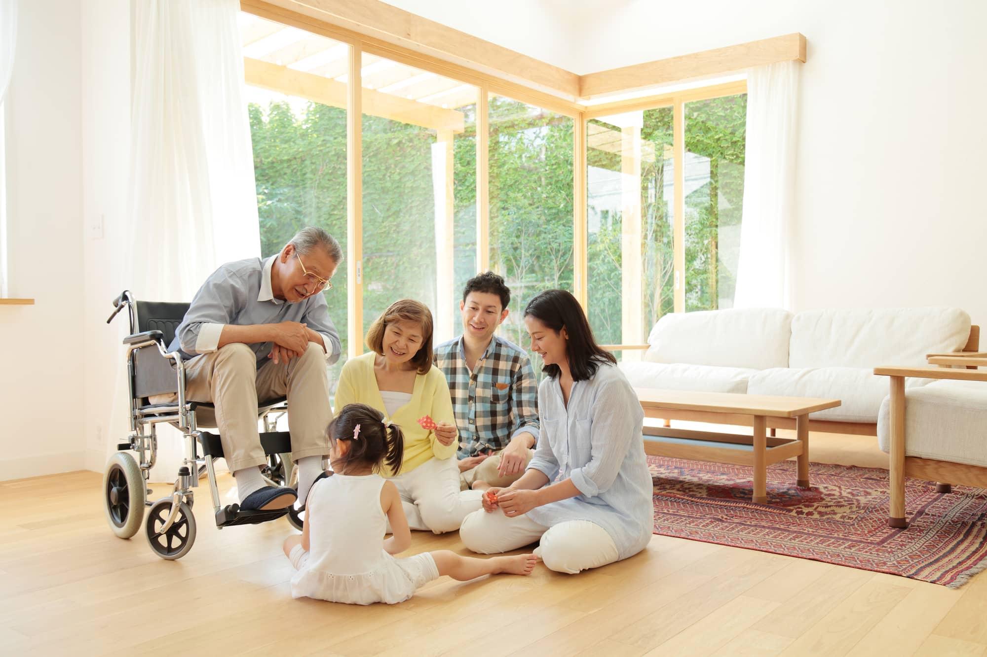 両立支援が実現できる家庭風景